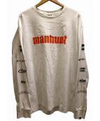 A BATHING APE(アベイシングエイプ)の古着「MANHUNT L/S TEE」|ホワイト