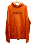 F.C.R.B.(エフシーアールビー)の古着「ロゴパーカー」 オレンジ