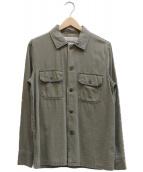 REMI RELIEF(レミレリーフ)の古着「ファーティングシャツ」|オリーブ