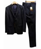 COMME CA MEN(コムサメン)の古着「セットアップスーツ」|ネイビー×ブラック