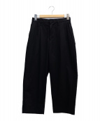 CURLY(カーリー)の古着「ADVANCE WIDE TROUSERS」|ブラック