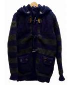 BARK(バーク)の古着「ニットダッフルコート」|ネイビー