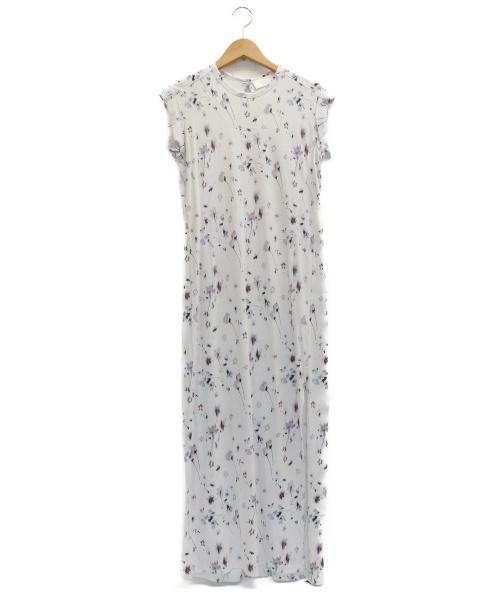 Mame Kurogouchi(マメ クロゴウチ)mame kurogouchi (マメ クロゴウチ) 小花ロングドレス ホワイト サイズ:表記サイズ:1の古着・服飾アイテム