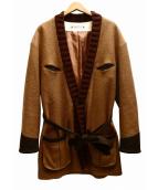 SASQUATCHfabrix.(サスクワッチ ファブリックス)の古着「RAZZLE DAZZLE GOWN COATコート」 ブラウン