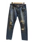 LEVIS VINTAGE CLOTHING(リーバイス ヴィンテージ クロージング)の古着「66501デニムパンツ」 ブルー
