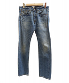 RRL(ダブルアールエル)の古着「セルビッチデニムパンツ」 ブルー