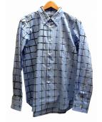 COMME des GARCONS HOMME DEUX(コムデギャルソン オム ドゥ)の古着「チェックシャツ」 ブルー