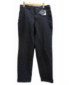 COMME des GARCONS HOMME DEUX(コムデギャルソンオムデュー)の古着「ポリ縮絨パンツ」 ブラック