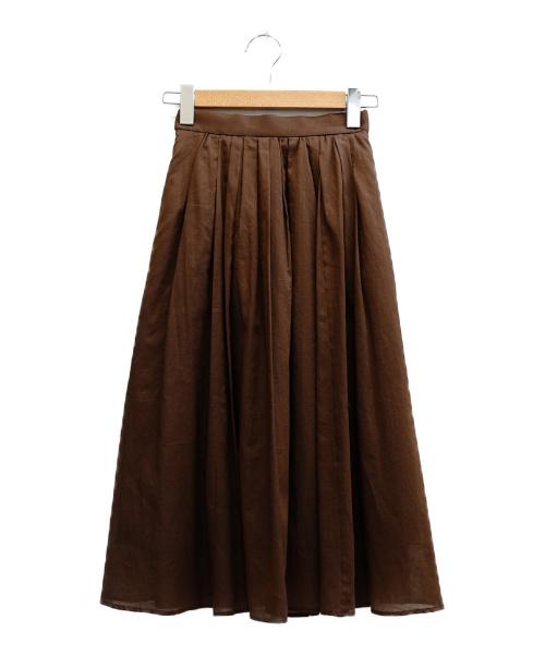 Mystrada(マイストラーダ)Mystrada (マイストラーダ) スカート ブラウン サイズ:表記サイズ:34 未使用品の古着・服飾アイテム
