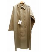 MACKINTOSH(マッキントッシュ)の古着「FAWNゴム引きステンカラーコート」|ベージュ