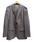 LANVIN COLLECTION(ランバンラコレクション)の古着「シルク混2Bテーラードジャケット」|グレー