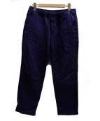 KUON(クオン)の古着「SASHIKO Line Pants 刺子パンツ」|ネイビー
