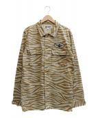 A BATHING APE(アベイシングエイプ)の古着「ゼブラ猿シャツ」|ベージュ