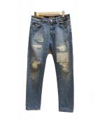 PT05(ピーティーゼロチンクエ)の古着「リペア加工デニムパンツ」|インディゴ