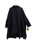 BEARDSLEY(ビアズリー)の古着「ナイロンポンチョコート」|ネイビー