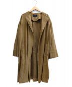 icB(アイシービ)の古着「スエードライトコート」|ベージュ