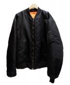 Buzz Ricksons×UNUSED(バズリクソンズ×アンユーズド)の古着「reversible MA-1ジャケット」|ブラック