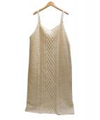 Uhr(ウーア)の古着「ケーブルニットドレス ワンピース」|ホワイト