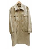 DISCOVERED(ディスカバード)の古着「レイヤードトレンチコート」|ベージュ