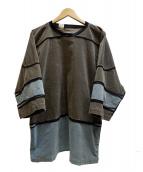 N.HOOLYWOOD(エヌハリウッド)の古着「MULTI COLOR CREW NECKシャツ」|グレー