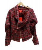 V.W. RED LABEL(ヴィヴィアンウエストウッドレッドレーベル)の古着「タータンチェックライダース ジャケット」|レッド
