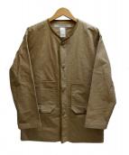 EEL(イール)の古着「ファティーグカンガルーシャツジャケット」 ベージュ