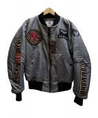TED COMPANY(テッドカンパニー)の古着「MA-1ジャケット」|グレー
