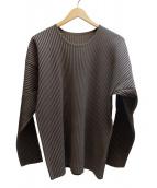 HOMME PLISSE ISSEY MIYAKE(オム プリッセ イッセイ ミヤケ)の古着「プリーツシャツ」|グレー
