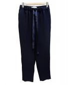 saqui(サキ)の古着「tapered ribbon pants リボンパンツ」|ネイビー