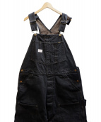 TROPHY CLOTHING(トロフィークロージング)の古着「BLACKIE OVERALLS W KNEE」|ブラック