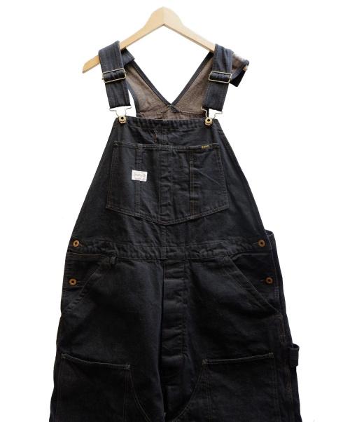 TROPHY CLOTHING(トロフィークロージング)TROPHY CLOTHING (トロフィークロージング) BLACKIE OVERALLS W KNEE ブラック サイズ:表記サイズ:40インチ LAHAINAコラボ参考価格36.000+TAX オーバーオールの古着・服飾アイテム