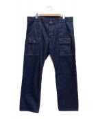 TCB jeans(ティーシービー ジーンズ)の古着「デニムブッシュパンツ」|インディゴ