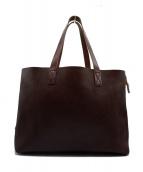SLOW(スロウ)の古着「A4 bonoレザートートバッグ」 チョコブラウン
