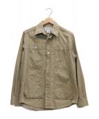 SASSAFRAS(ササフラス)の古着「ワークシャツジャケット」|ベージュ