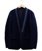 Casely-Hayford(ケイスリーヘイフォード)の古着「ノーカラージャケット」|ネイビー