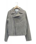 Ungrid(アングリッド)の古着「レザーライダースジャケット」|グレー