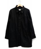 GANGSTERVILLE(ギャングスタビル)の古着「ネップキャンバスコート」|ブラック