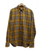 Martin Margiela14(マルタンマルジェラ14)の古着「チェックシャツ」|イエロー