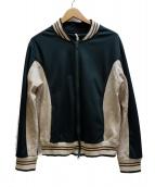 MS BRAQUE(エムズ ブラック)の古着「トラックジャケット」|ホワイト×グリーン