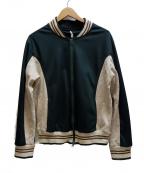 ms braque(エムズ ブラック)の古着「トラックジャケット」 ホワイト×グリーン