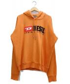 DIESEL(ディーゼル)の古着「ビンテージロゴスウェットパーカー」|オレンジ