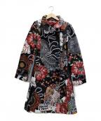 Desigual(デシグアル)の古着「ゴブラン織コート」|ブラック