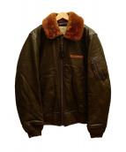AVIREX(アビレックス)の古着「SHEEP B-15 JACKET」|ブラウン