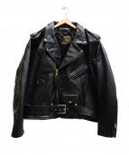 VANSON(バンソン)の古着「C2ダブルライダースジャケット」|ブラック