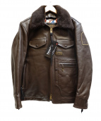 NEIGHBORHOOD(ネイバーフッド)の古着「カウレザーポリスマンジャケット」|ブラウン