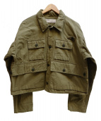 NAISSANCE(ネサーンス)の古着「ミリタリーショートジャケット」|グリーン