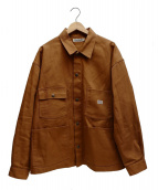 COOTIE PRODUCTIONS(クーティー プロダクションズ)の古着「C SERGE SHORT COVERALL」|ブラウン