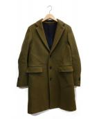 SCYEBASICS(サイベーシックス)の古着「ウールカシミアメルトンチェスターコート」|オリーブ