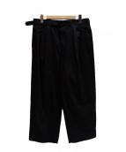 LEMAIRE(ルメール)の古着「タックパンツ」|ブラック