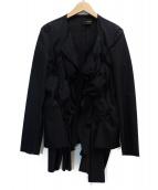 COMME des GARCONS(コムデギャルソン)の古着「デザインジャケット」 ブラック